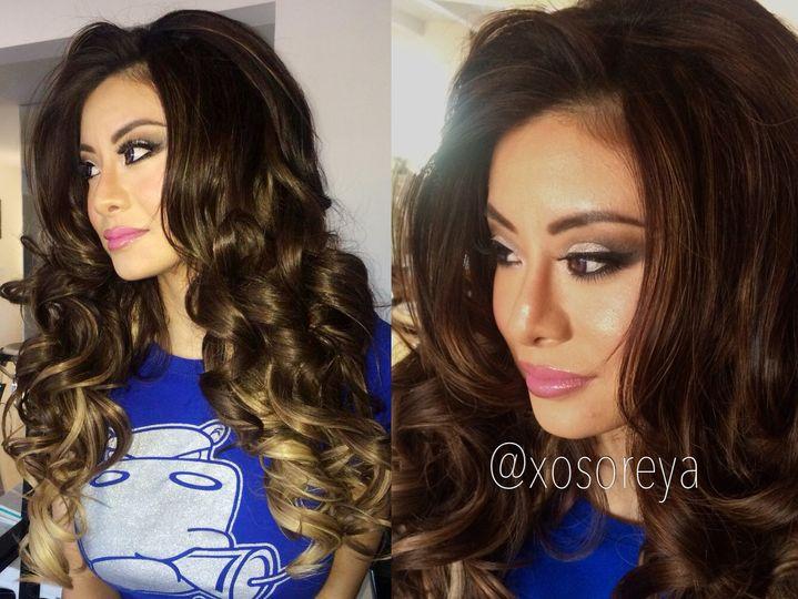 soreya yann curls with extensions