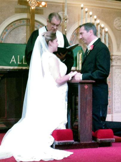 Julie and Nick Ciriello. Coral Gables Congregational Church. Sept. 2013