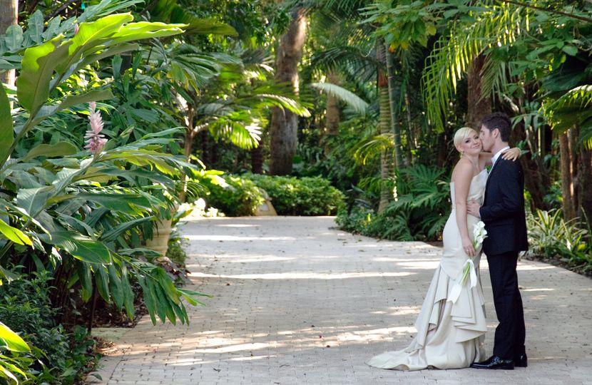Bride and groom private estate