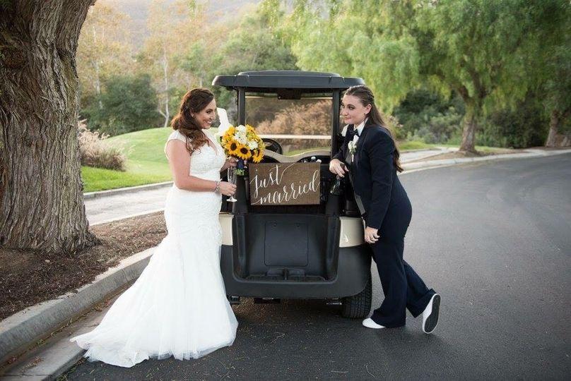 Wedding getaway car