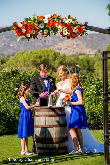 Ceremony lawn, mountain views