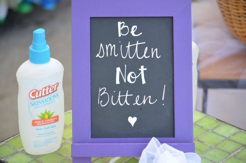 Be smitten not bitter sign