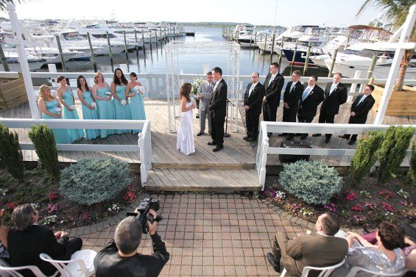 Wedding by the dock