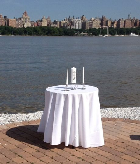 Table in the wedding