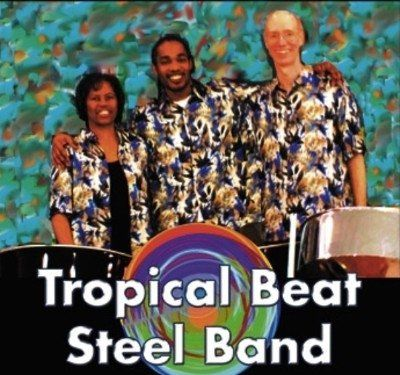 Tropical Beat Steel Drum Band trio.