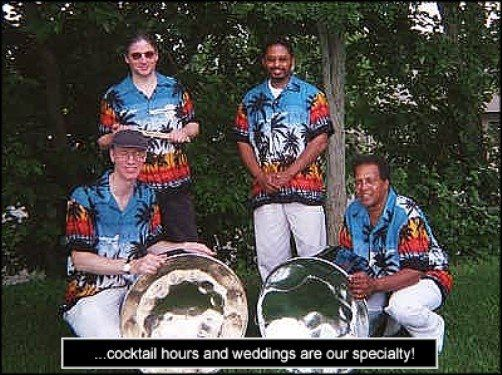 Tropical Beat Steel Drum Band performing at a wedding