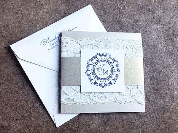 Silver invitations