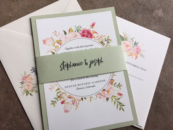 Tmx 1507219150966 Floral Frame Wedding Invitationorig Denver, Colorado wedding invitation