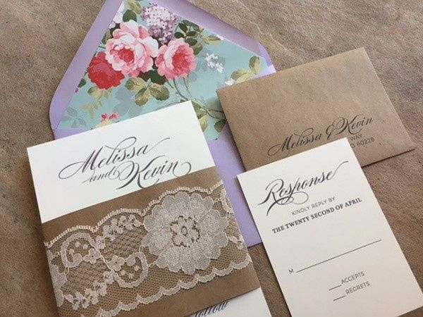 Tmx 1507219164343 Vintage Floral And Lace Invitations1orig Denver, Colorado wedding invitation