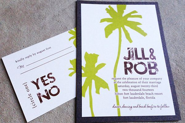 Tmx 1507219407195 Palm Trees Invitationorig Denver, Colorado wedding invitation