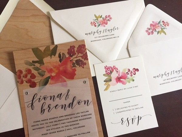 Tmx 1507219647288 Wood Wedding Invitationsorig Denver, Colorado wedding invitation