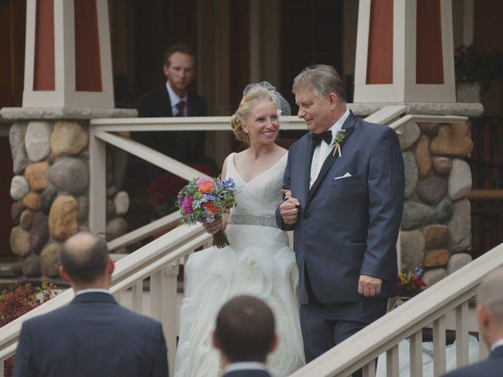Tmx 1418310044912 Amy Carroll   Bride And Dad Process Glen Arbor, MI wedding venue