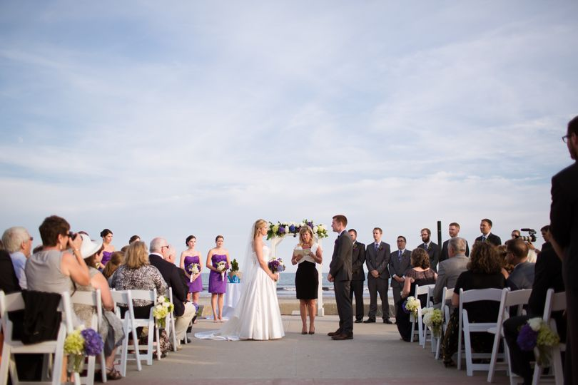 Boardwalk Ceremony, Rebecca Deaton Photography