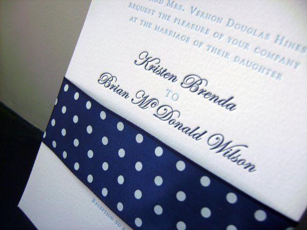 Letter-pressed invitations