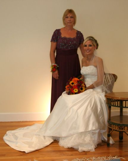 Mother and bride portrait