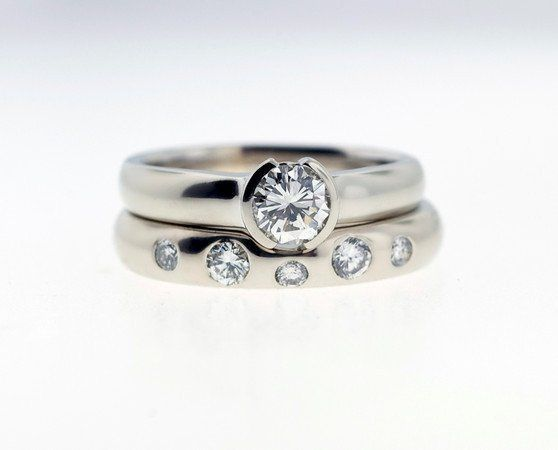 Engagement and wedding rings, from your creativity and Kathryn Pearce's 25 years of design...