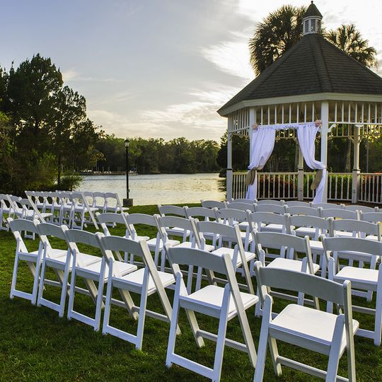 Outdoor chairs for ceremony