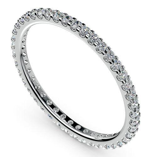 Scallop Diamond Eternity Ring in Platinum