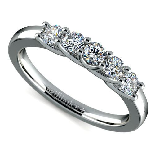 Tmx 1389634903282 Trellis Five Diamond Band White Gold Zoom  Boynton Beach wedding jewelry