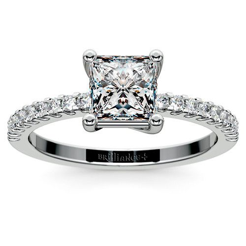 Tmx 1389638354858 Princess Scallop Diamond Ring Platinum Zoom  Boynton Beach wedding jewelry