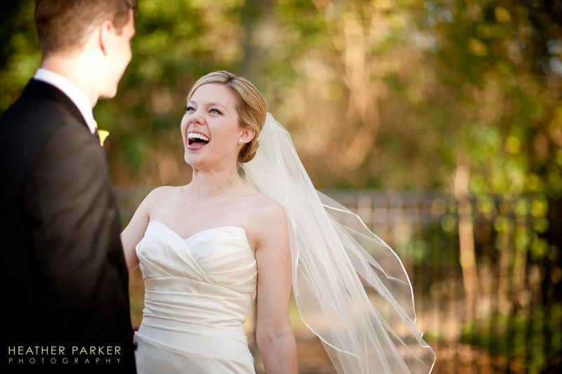 This Gallery 1028 bride sees her groom for the first time on the wedding day.