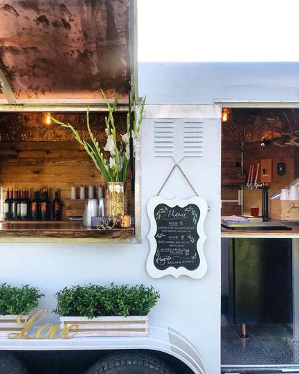 Our cocktail caravan Buck is a mobile speakeasy - full service bar!