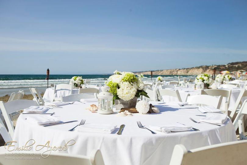 Table Set up on Beach