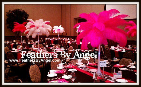 Feather Centerpieces