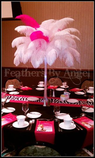 Feathers By Angel-Rent Ostrich Feather Centerpieces - Lighting ...