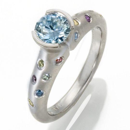 etienne perret tulip engagement color enhanced natural diamonds in platinum 800