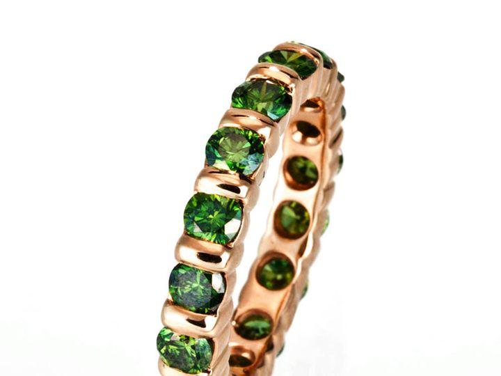 Tmx 1365149479478 Etienne Perret Bar Set Wedding Ring. Green Color Enhanced Diamonds In 18krg 800 Camden wedding jewelry