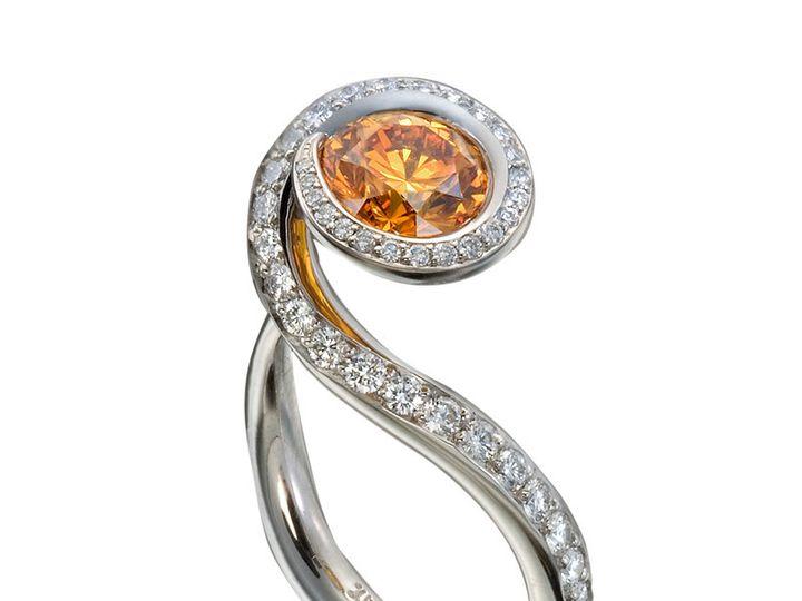 Tmx 1365149523318 Etienne Perret Tendril Ring. Orange Hpht Diamond  Gvs Diamonds In Platinum 800 Camden wedding jewelry
