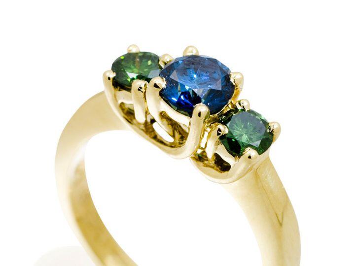 Tmx 1365149685195 Green Blue Diamond Ring 800 Camden wedding jewelry