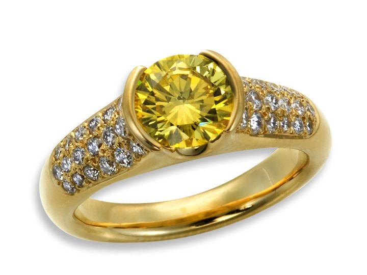 Tmx 1365149698683 Yellow Diamond Pave Engagement 800 Camden wedding jewelry