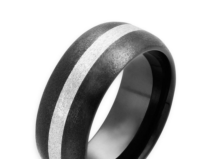 Tmx 1365164171710 Ceramic White Gold Stripe Bigwtedit 800 Camden wedding jewelry