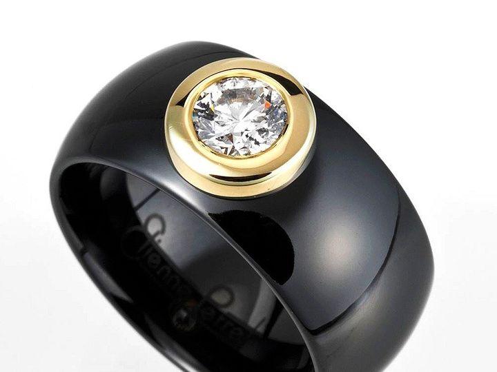 Tmx 1365164344426 Etienne Perret Ceramique Evelyn Ring. Gvs Diamond In 18kyg  Black Gem Ceramic 800 Camden wedding jewelry