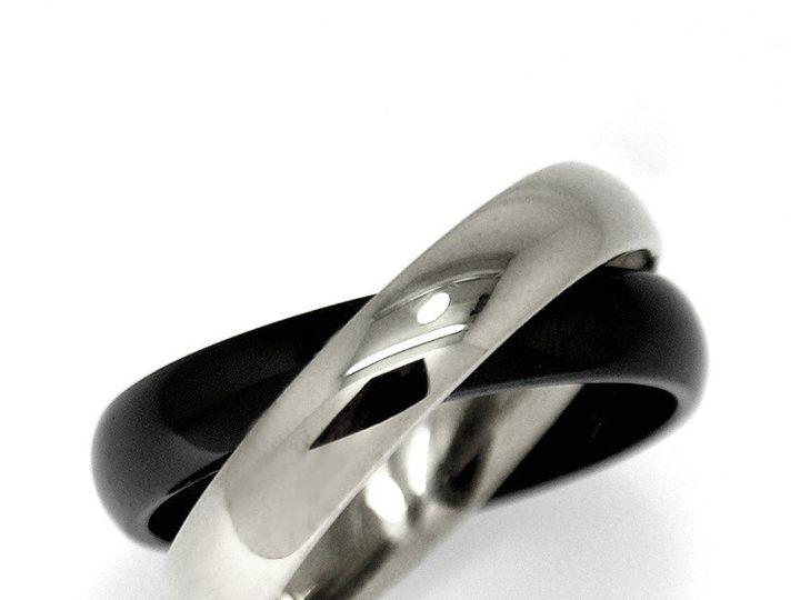 Tmx 1365164369435 Etienne Perret Ceramique Lovers Ring. Cobalt Chrome  Black Gem Ceramic 800 Camden wedding jewelry