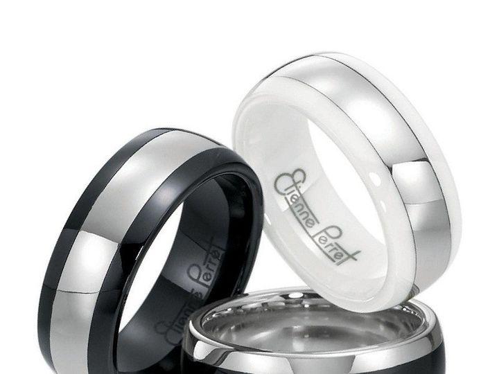 Tmx 1365164495322 Etienne Perret Ceramique Stripe Ring Group. Cobalt Chrome And Gem Ceramic 800 Camden wedding jewelry