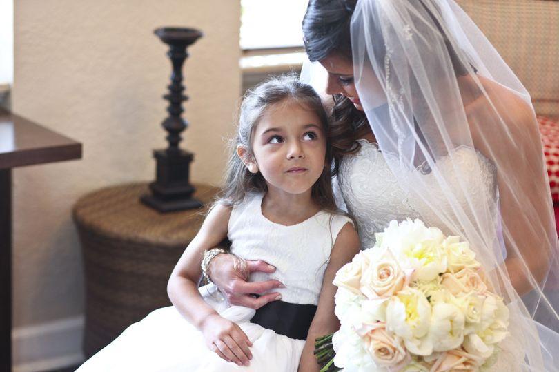 Bridesmaid with kid