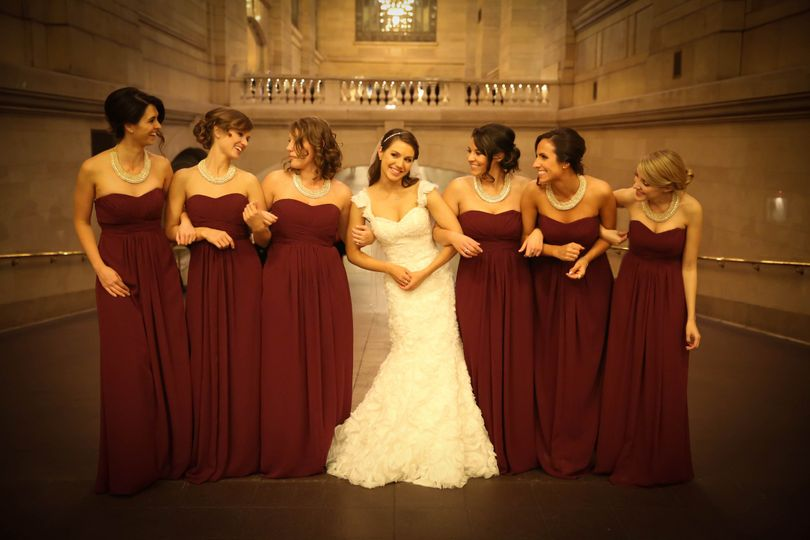 Burgundy gowns  - Ciaca Photography