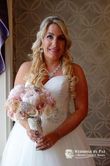 blush bling beautiful bridal bouquet