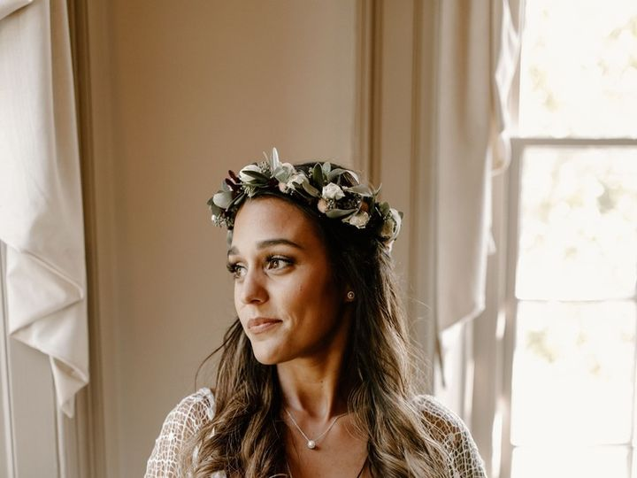 Tmx Bride With Flower Crown In Lace Dress With Wedding Bouquet  51 956824 161247931092083 Philadelphia, PA wedding beauty
