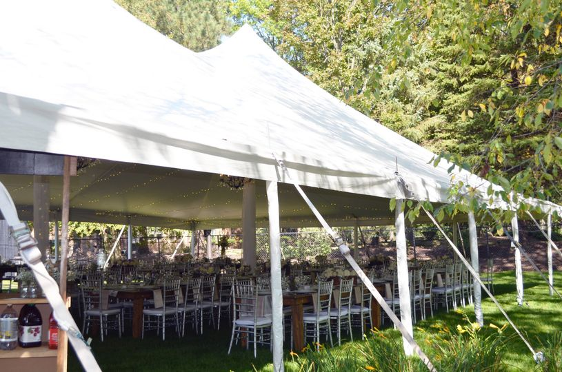 White wide tents