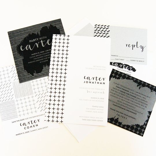 The perfect black and white suite - impressive! Customize for a modern, FAB wedding!