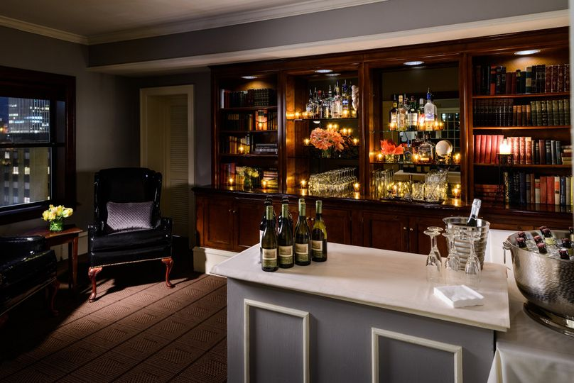 Penthouse library bar