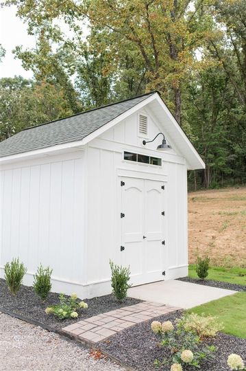 White Storage Building