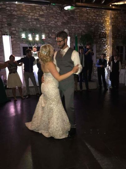 We love capturing the first dances of our couples. Here they are at Castle Farms.