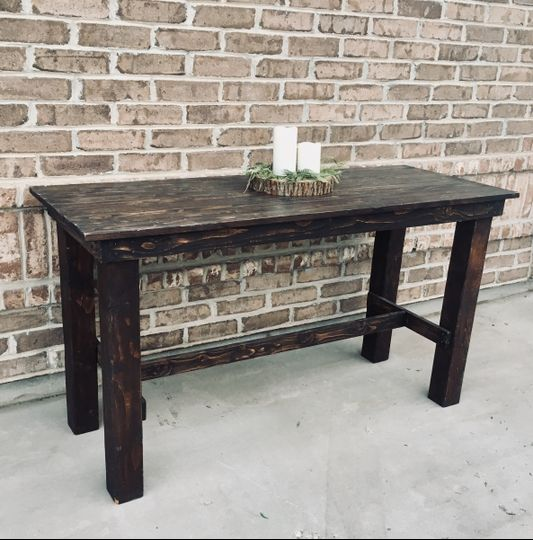 Dark Stained Table