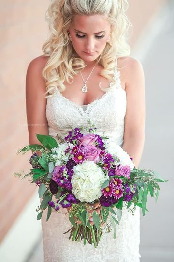 Lovely bride with purples