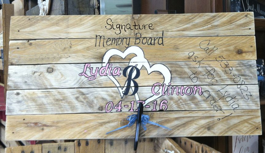 The joining of two hearts is always a special occasion. The bride and groom can have their surname...
